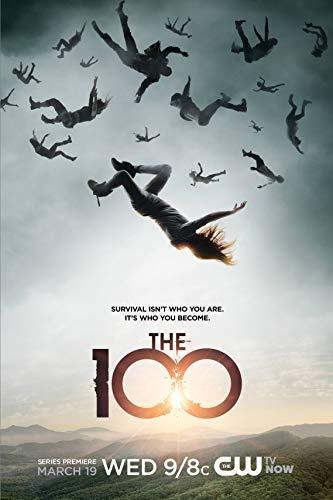 The 100 Season 1 Movie Poster 13 in x 19 in Poster Flyer BORDERLESS + Free 1 Tile Magnet