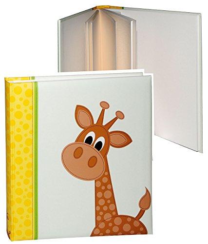alles-meine.de GmbH XL Fotoalbum - Baby - Tiere  Giraffe  - Gebunden zum Einkleben - blanko - groß für bis zu 336 Bilder - Fotobuch / Photoalbum / Babyalbum / Album - für Mädch..