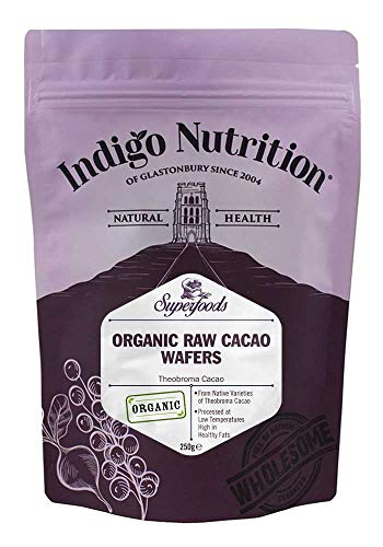 Indigo Herbs Rohe Bio Kakaobutter Wafers 250g