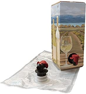 1.5L White Wine Bag-In-Box Kits [Eco-Friendly Wine Bottle Alternative] - Easily Bottle & Store Your Wines - Perfect For Home Winemakers & Wineries (3 pack of 1.5L White Wine Bags & Boxes)