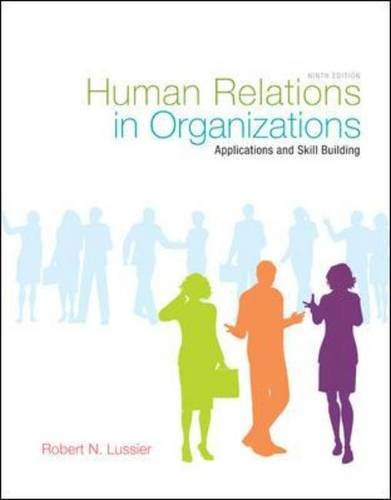 Human Relations in Organizations...