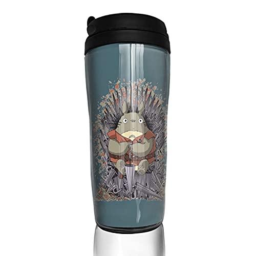 Anime My Totoro Game Thrones Taza de café reutilizable aislada taza de viaje para bebidas frías calientes, 350 ml