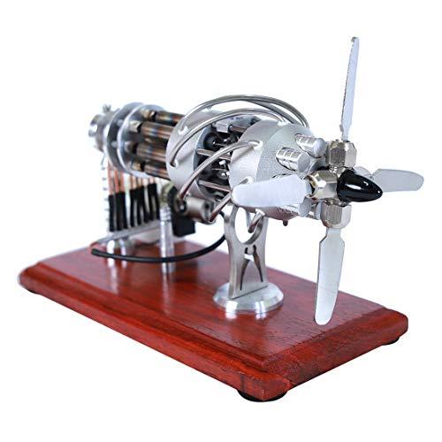 Seciie 16 Zylinder Stirlingmotor, Sterling Engine Stirling Motor Sterling Motor Pädagogisches Spielzeug Geburtstagsgeschenk Kinder und Technikbegeisterte
