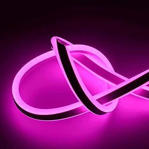 H/A Cool Neon 220V RGB LED con lámpara Bouquet Flexible LED Cinta DIY Hogar de la Sala de la Pared Decorativa AZHAA (Emitting Color : Pink, Length : 6M)