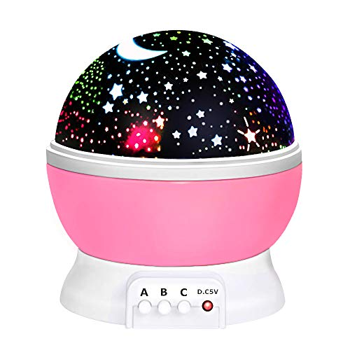 Birthday Gifts Presents for 2-10 Year Old Girls, Wonderful Romantic Starlight for Kids Toys for 2-10 Year Old Boys Easter Gifts for 2-10 Year Old Boys Easter Basket Stuffers Pink TSUKXK03
