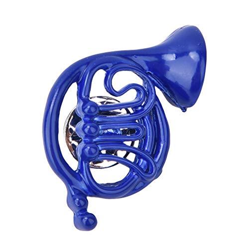 Regalo romanticocorno francese blu, Boquite Spilla per Spilla Blu, Spilla per Spilla con Ornamento per Borsa a Forma di Corno, Metallo con Confezione Regalo per cliente collega