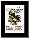 Gasolinerainbows - Status Quo - Bula Quo UK Tour Dates 2013 - Revista montada Obra de Arte Promocional en una Montura Negra - Matted Mounted Magazine Promotional Artwork on a Black Mount