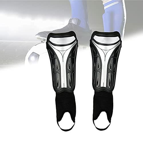 koncy Schienbeinschoner Fussball Kinder, Schienbeinschützer mit Knöchelschutz Bietet Umfassenden Schutz für die Beine Ihrer Kinder (Color : Black with Ankle, Size : L)