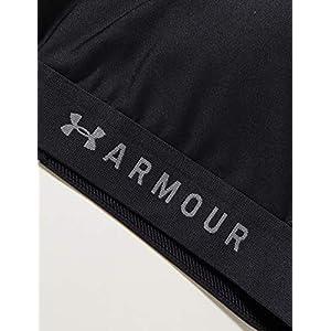 Under Armour Women's HeatGear Armour Mid Impact Crossback Sports Bra, Black (001)/Graphite, Medium