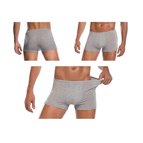 Pantalones Cortos Desechables para Hombre, 100% Algodón, Ropa Interior, Calzoncillos, Pantalones Cortos Portátiles, Blanco/Gris 5pk
