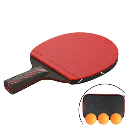 NOBRAND Zonggan Mesa de Ping Pong Raqueta, Asa Paleta de Ping Pong Cubierta 3 Conjunto de Bola Largo/Corto de Spin Avanzada, Velocidad y Control de Interior/Exterior Mesa de Ping Pong