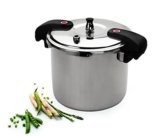 Lacor 71815-Olla a presión Chef, 15 L, Acero Inoxidable 18/10, Dorado, 28 cm