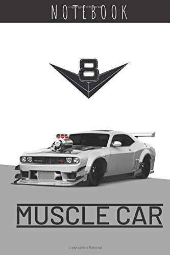 Notebook Muscle Cars: Cars Notebook, Journal, Diary, Drawing and Writing, Creative Writing, Poetry (110 Pages, Blank, 6 x 9)