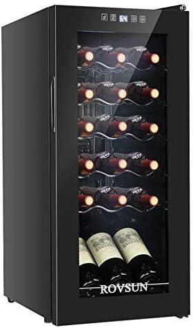 ROVSUN 18 28 Bottle Wine Cooler Freestanding Compressor Wine Chiller w Digital Temperature Control product image