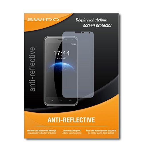 SWIDO Schutzfolie für Homtom HT3 Pro [2 Stück] Anti-Reflex MATT Entspiegelnd, Hoher Festigkeitgrad, Schutz vor Kratzer/Bildschirmschutz, Bildschirmschutzfolie, Panzerglas-Folie