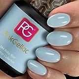Pink Gellac Shellac Gel Nagellack 15 ml für UV LED Lampe | 266 Baby Blue Blau | Gel Nail Polish for UV Nail Lamp | LED Nagel Lack Gellack Nagelgel