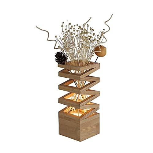Lámpara de mesa de servicio Lámpara de mesita decorativa de la lámpara de mesa decorativa de madera, usada for estudio y sala de estar decoración DIRIGIÓ Lámparas de mesa, arreglo de flores Lámpara de