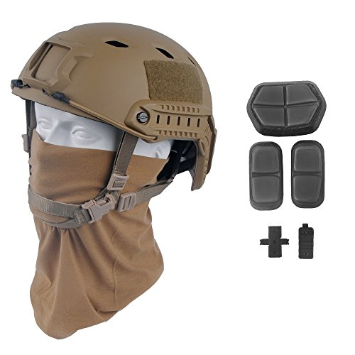 LOOGU Fast BJ Base Jump Military Helmet with 12-in-1 Headwear (TN)