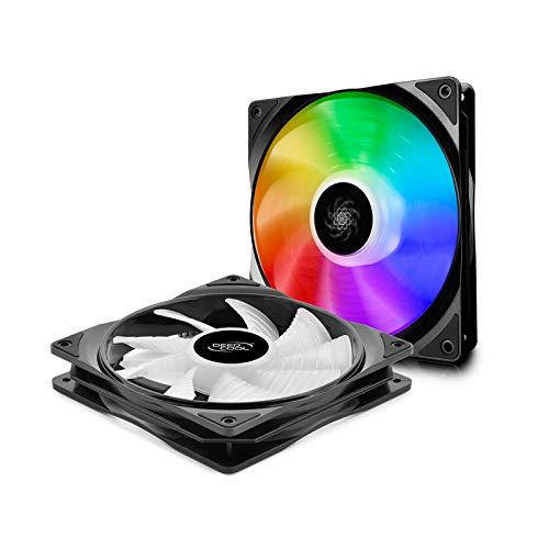DEEP COOL CF140 Ventole RGB Addressable 140mm, PWM Ventola RGB Flusso Silenzioso ad Alte Prestazioni(2 in 1), Controllabile da Software della Scheda Madre, 5V 3pin ADD RGB