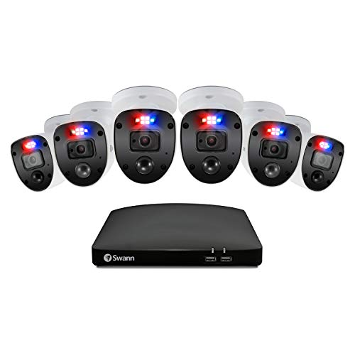 Swann Security CCTV Kit, 8 Channel 1080p Full HD 1TB HDD DVR-4680 with 6 x...