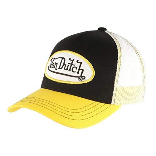 Von Dutch - Gorra negra visera amarilla para hombre amarillo Talla única