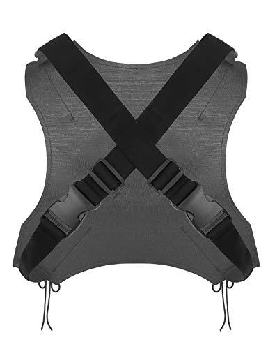 Freebily Funda de Pistola Espada Cuero Dual para Piernas Disfraz Superhéroe Deadpool Arnés de Pecho Espalda Cinturón Vaina Disfraces Adultos Halloween Carnaval Espalda OneSize