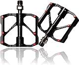 XHANGEV Pedales de bicicleta de montaña, pedales de aleación de aluminio, bicicleta de montaña, bicicleta de carretera, bicicleta de montaña (negro)