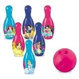 Disney- Juego de Bolos de Princesas, Multicolor (Mondo Toys 28412)