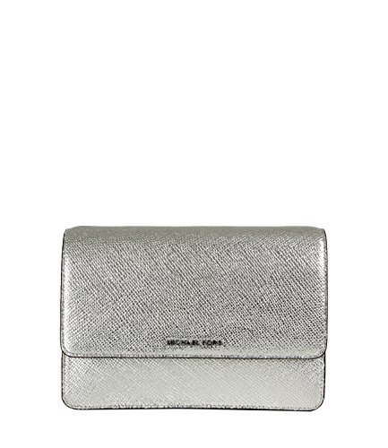 100% Leather Magnetic snap closure Silver-tone exterior hardware & 1 back snap pocket