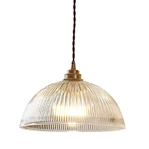 FHTD Lámparas Colgantes industriales Vintage, lámpara de araña con cúpula de Cristal,...
