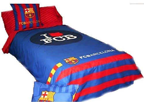 FCB Funda Nórdica Cama 90 CM. F.C. Barcelona I Love Listas 2 Piezas