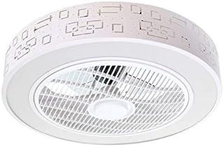 Onssi - Plafón Led de Techo 36W Con Ventilador,Circular Φ510mm,Ventilador de Techo, Con Regulable y Cambiar la Temperatura de Color y Velocidad de Viento Por Control Remoto y App Control