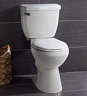 Miseno MNO1500C High Efficiency 1.28 GPF Two-Piece Round Chair Height Toilet with Seat and Wax Ring Included