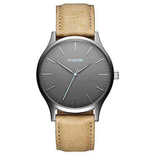 MVMT Herren Analog Quarz Uhr mit Leder Armband D-MT01-GML