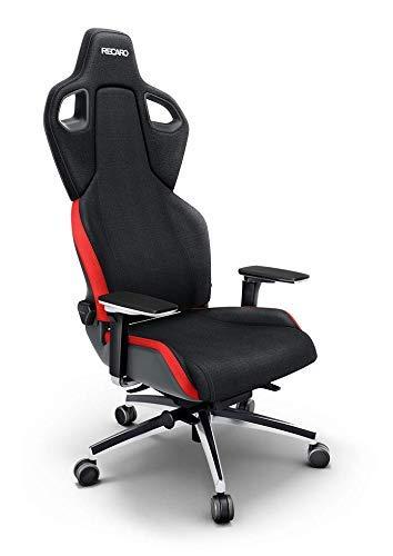 RECARO Exo FX Gaming Chair – Ergonomischer, höhenverstellbarer Stuhl für Gamer mit 5D-Armlehne – Lava Red