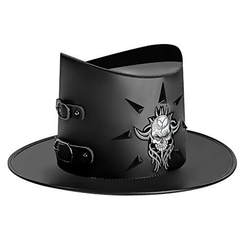 SM SunniMix Divertido Punk Gothic Mago Sombrero de Copa Steampunk Party Caps Trilby - Estilo 3