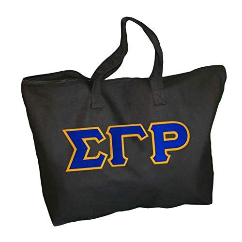Sigma Gamma Rho Lettered Tote Bag Black