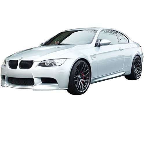 Front Bumper Lip Compatible With 2008-2013 BMW E92 E93 E90 M3 Series Coupe Sedan, V Style PU Black Spoiler Splitter by IKON MOTORSPORTS