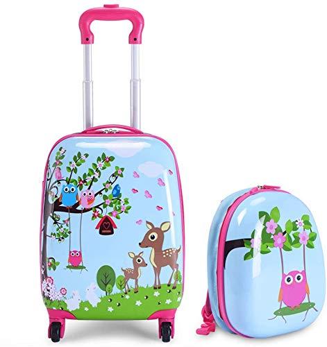AAZX Children's suitcase, cute cartoon trolley suitcase, luggage suitcase, cartoon suitcase, children's light suitcase, universal wheel trolley suitcase, suitcase,A