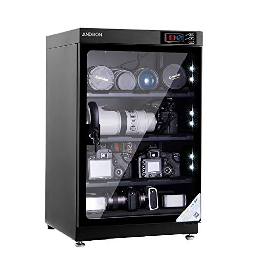 LXDDP Gabinete seco para Lentes cámara 80L Caja electrónica a Prueba Humedad Deshumidificación automática Operación silenciosa