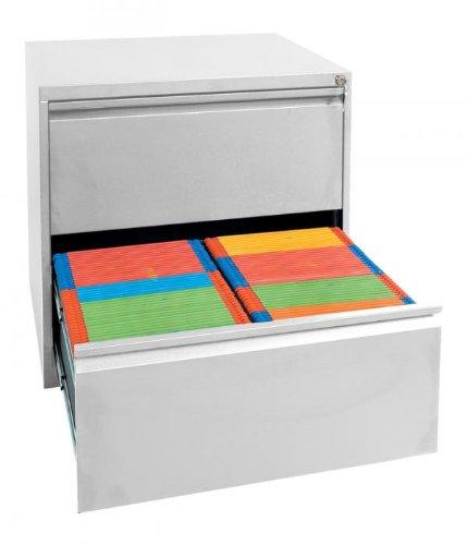 Profi Stahl Büro Hängeregistratur Schrank Bürocontainer 700 x 760 x 620mm (HxBxT) mit 2 Schüben, doppelbahnig 561220 kompl. montiert und verschweißt