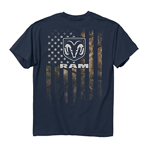 Men's Ram - Full Camo Flag Cotton T-Shirt, Blue Dusk, X-Large