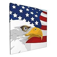 インテリア絵画 米国の国旗 タカ アートパネル ポスター モダン 装飾画 壁絵 アート 玄関に飾る モダンアート キャンバス絵画 壁掛け 部屋飾り 新築飾り アートポスター ウォールアート 30x30cm