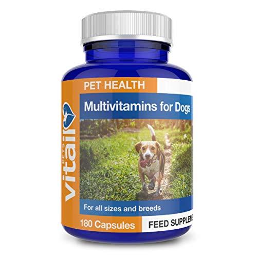 Multivitamin for Dogs, 180 'Split and Pour' Capsules. Pet Multi Vitamin Providing 16 Essential Vitamins and Minerals.