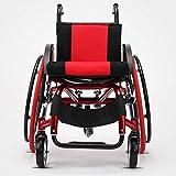 ENDJYO Silla De Ruedas Atlética Ultra Ligera, Silla De Ruedas Plegable, Aleación De Aluminio Adecuada para Personas con Discapacidades Y Personas Mayores