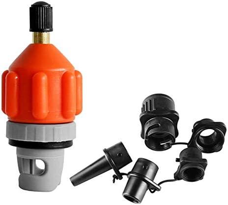 Adaptateur de pompe de SUP gonflable convertisseur de pompe224; air pompe de paddle pour bateau gonflable convertisseur de planche SUP kayak avec buse planche de stand up paddle orange