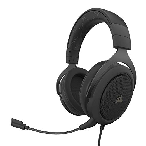 Corsair HS60 Pro – 7.1 Virtual Surround Sound PC Gaming Headset w/USB DAC - Discord Certified Headphones – Compatible with Xbox One, PS4, and Nintendo Switch – Carbon (Renewed)