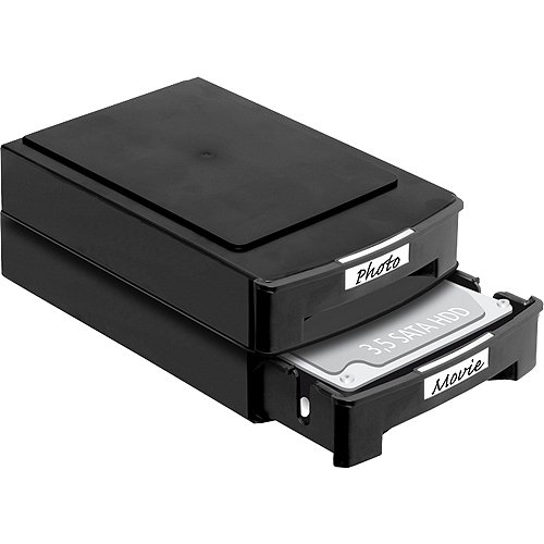 DeLOCK 2 x Cajas para discos duros 3.5 apilable, 61970: Amazon.es ...