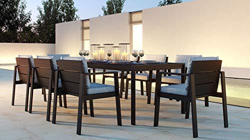 ARTELIA Rosario XL Gartenmöbel Essgruppe Aluminium 8 Personen - Luxus Esstisch Set für Garten, Terrasse, Premium…