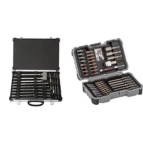 Makita D-42444 SDS+ Bohrer/Meissel-Set 17tlg, 1 W, 1 V & Bosch Professional 43tlg. Schrauber Bit Set (Zubehör für Elektrowerkzeuge)
